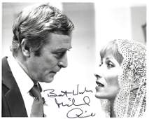 Michael Caine Signed 10 x 8 inch b/w photo from Silver