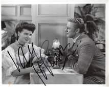 Van Johnson Signed 10 x 8 inch b/w photo, slight