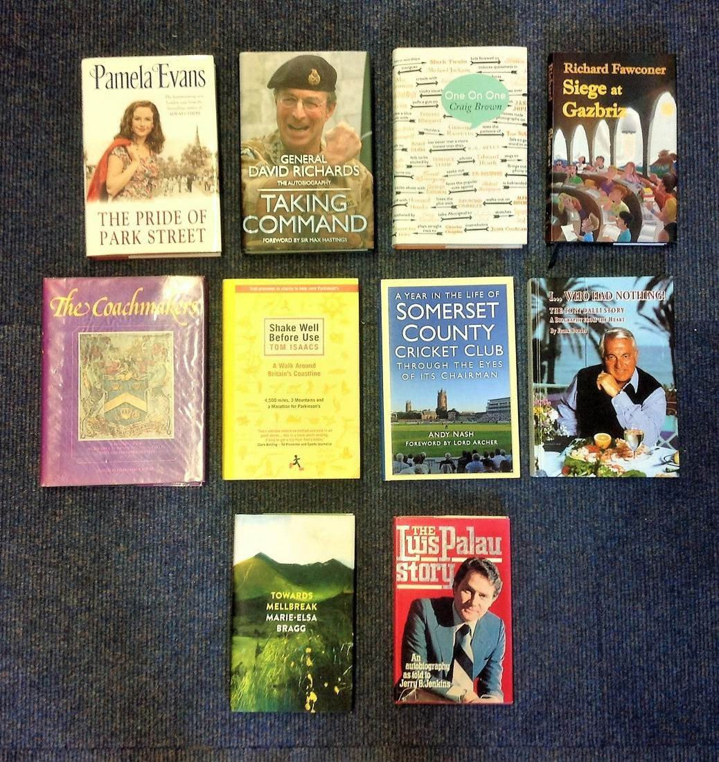 Hardback book collection 10 signed titles includes The
