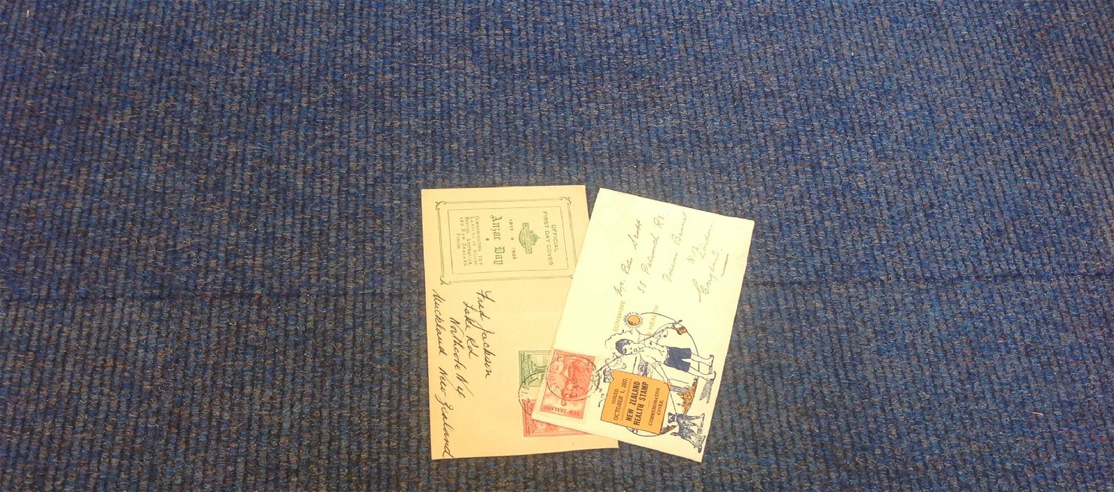 New Zealand FDC collection, 2 covers, 1936 Anzac day