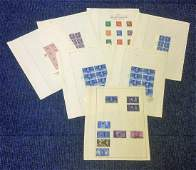 Great Britain stamp collection 9 sheets mint and used