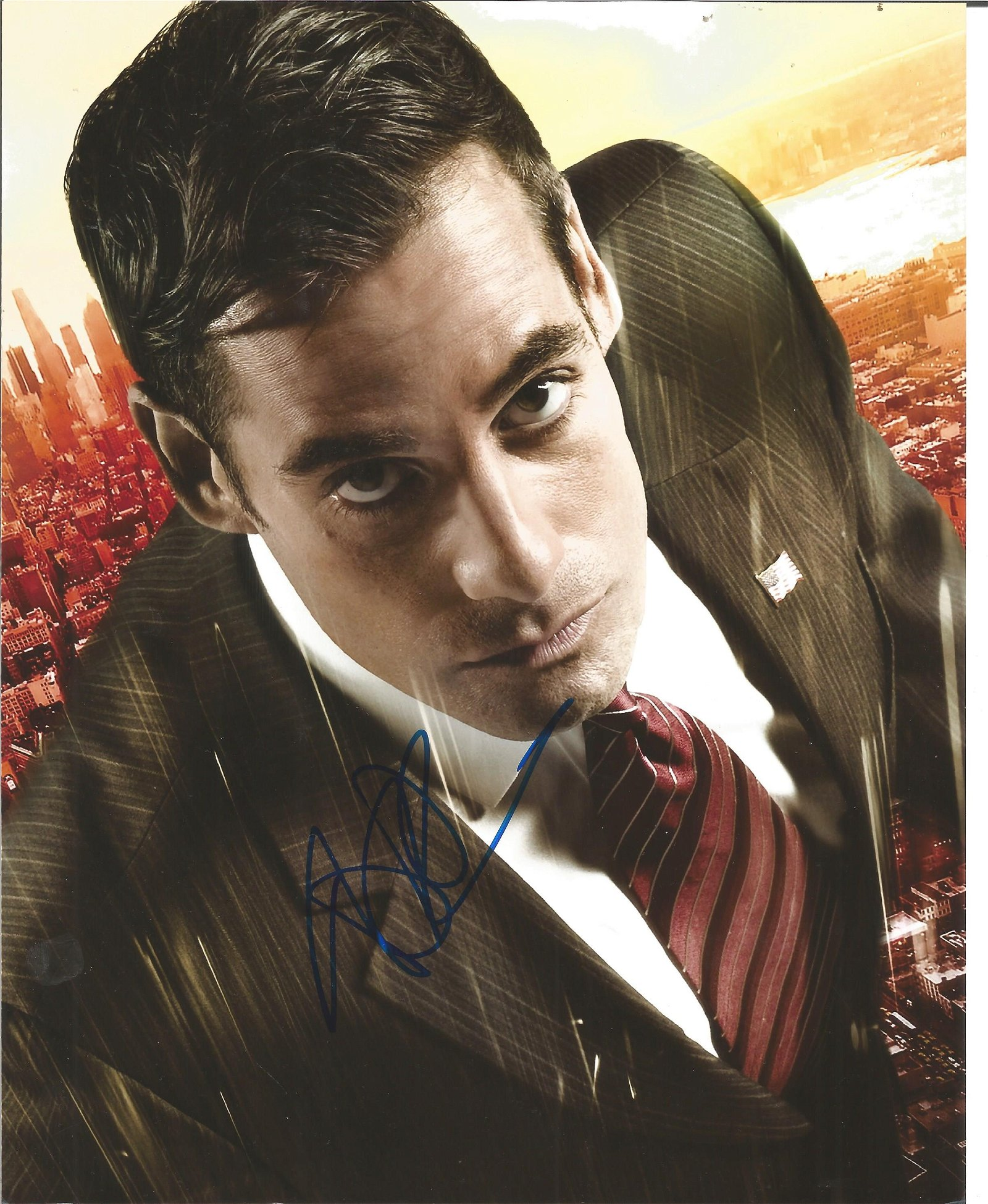 Blowout Sale! Heroes Adrian Pasdar hand signed 10x8