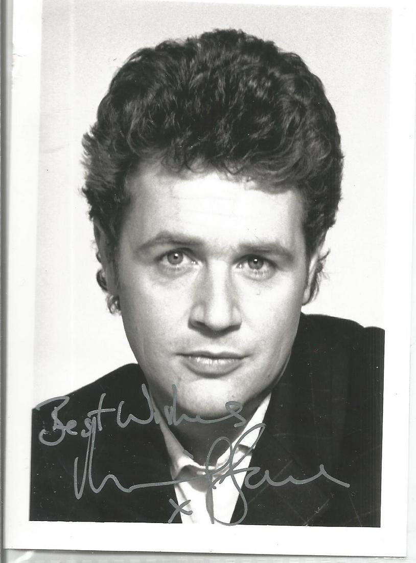 Michael Ball Singer Signed Photo. We combine postage on