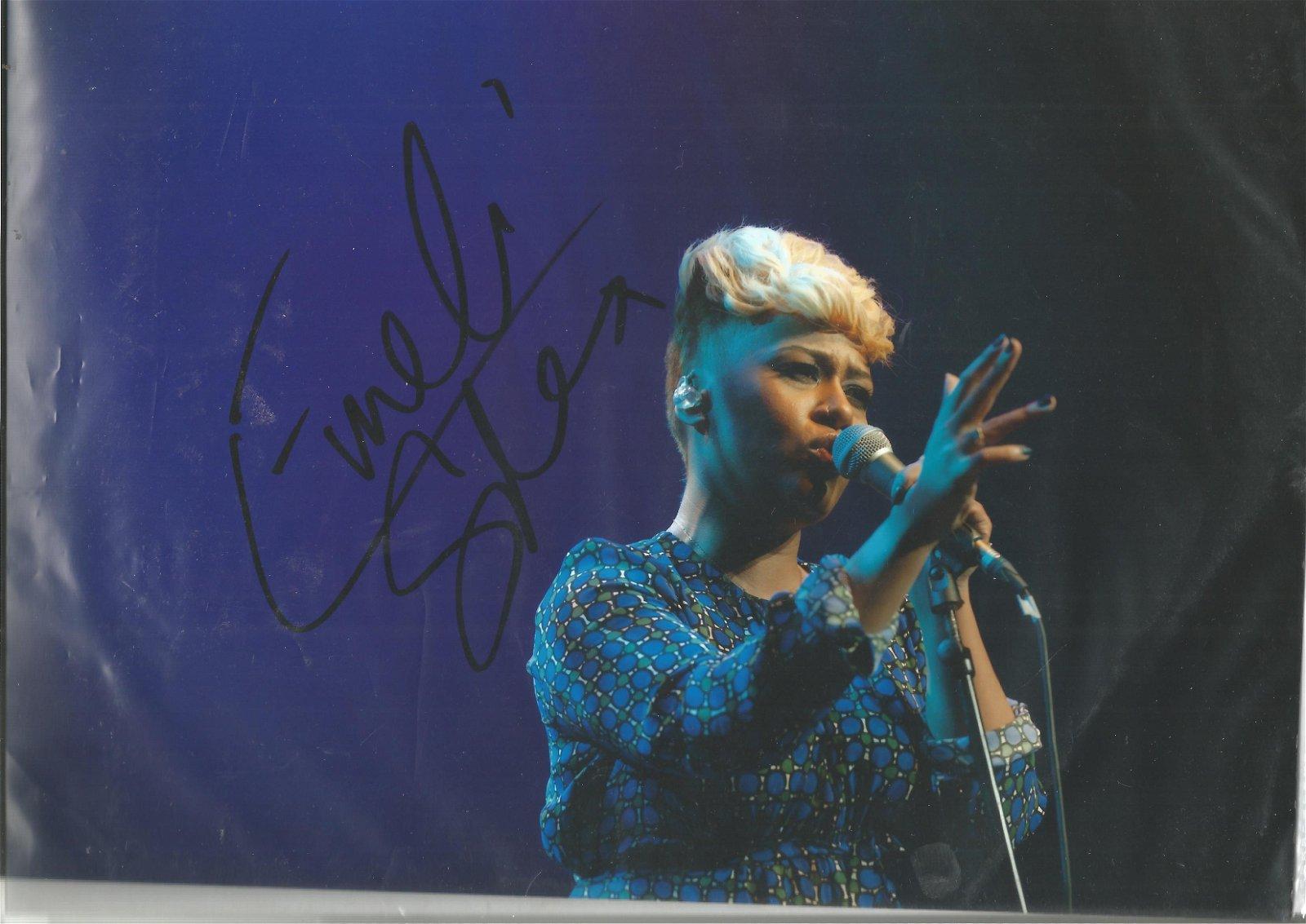 Emeli Sande Singer Signed 8x12 Photo. We combine