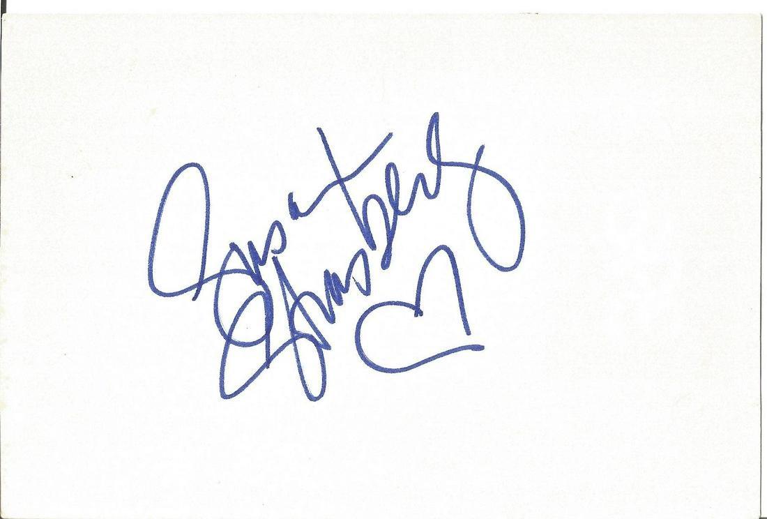 Susan Strasberg signed 6x4 white card. We combine