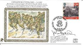 John Howard signed Operation Overlord - D-Day Silk FDC