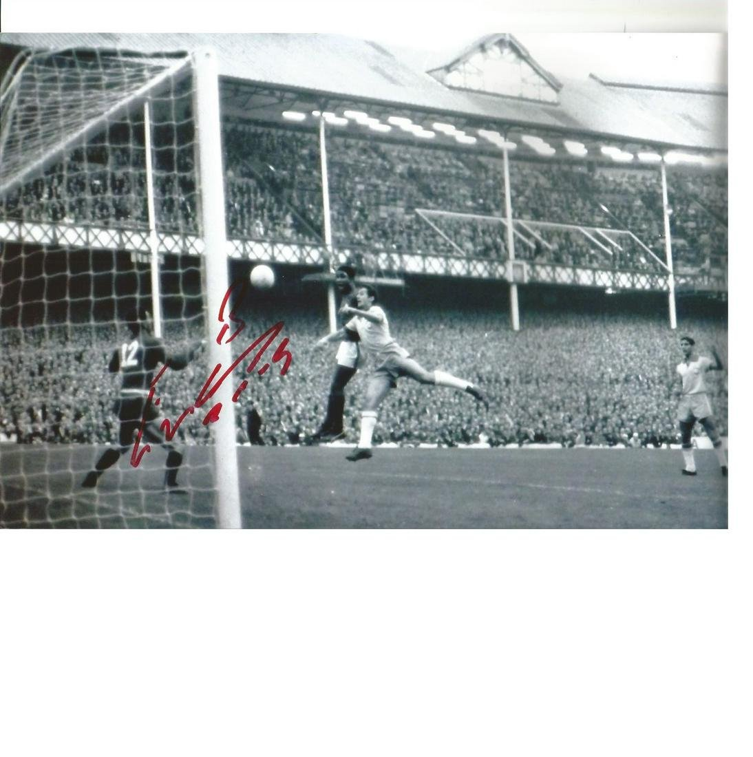 Eusebio Portugal Authentic Signed 12 x 8 inch football