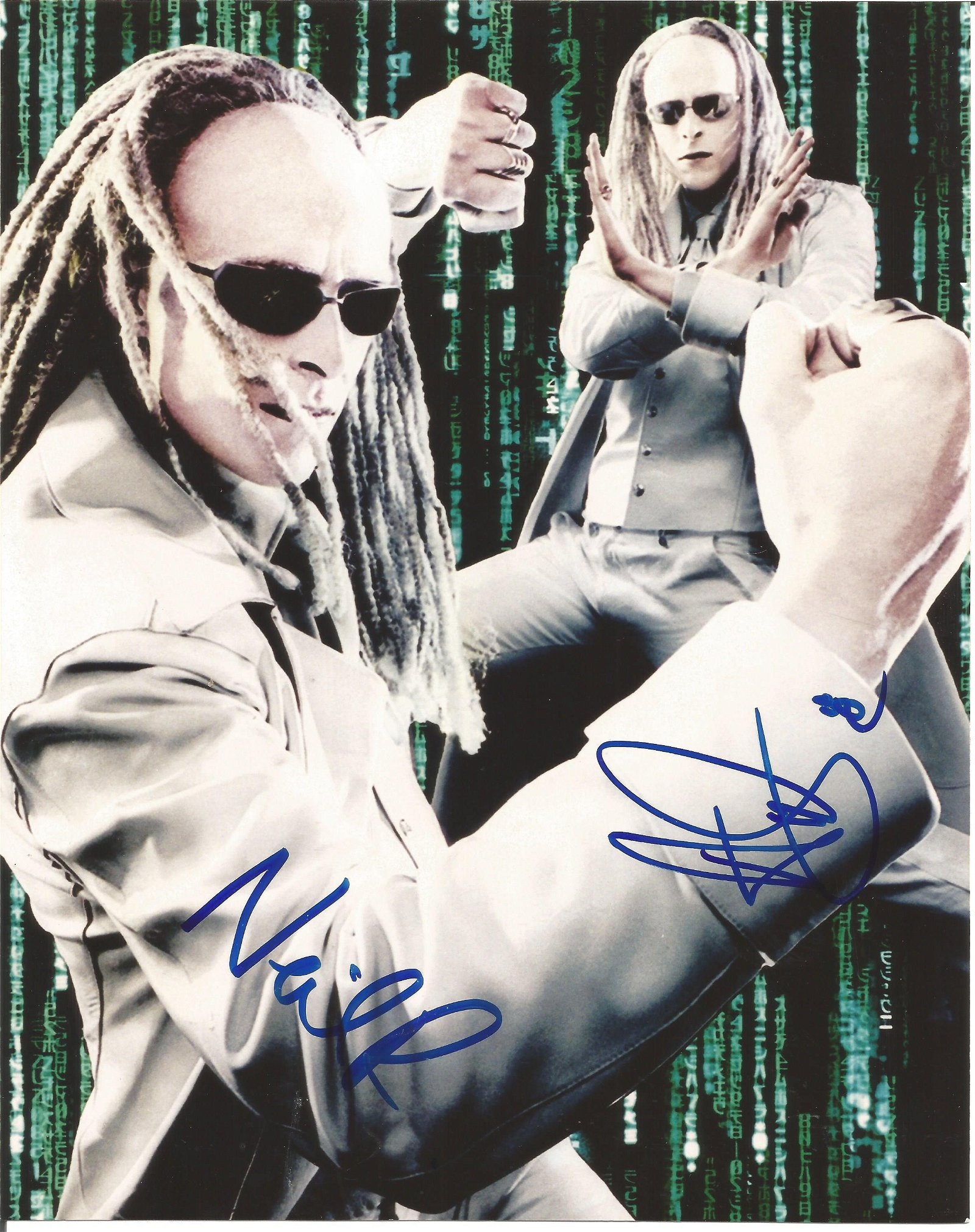 Neil Rayment and Adrian Rayment signed 10x8 Matrix