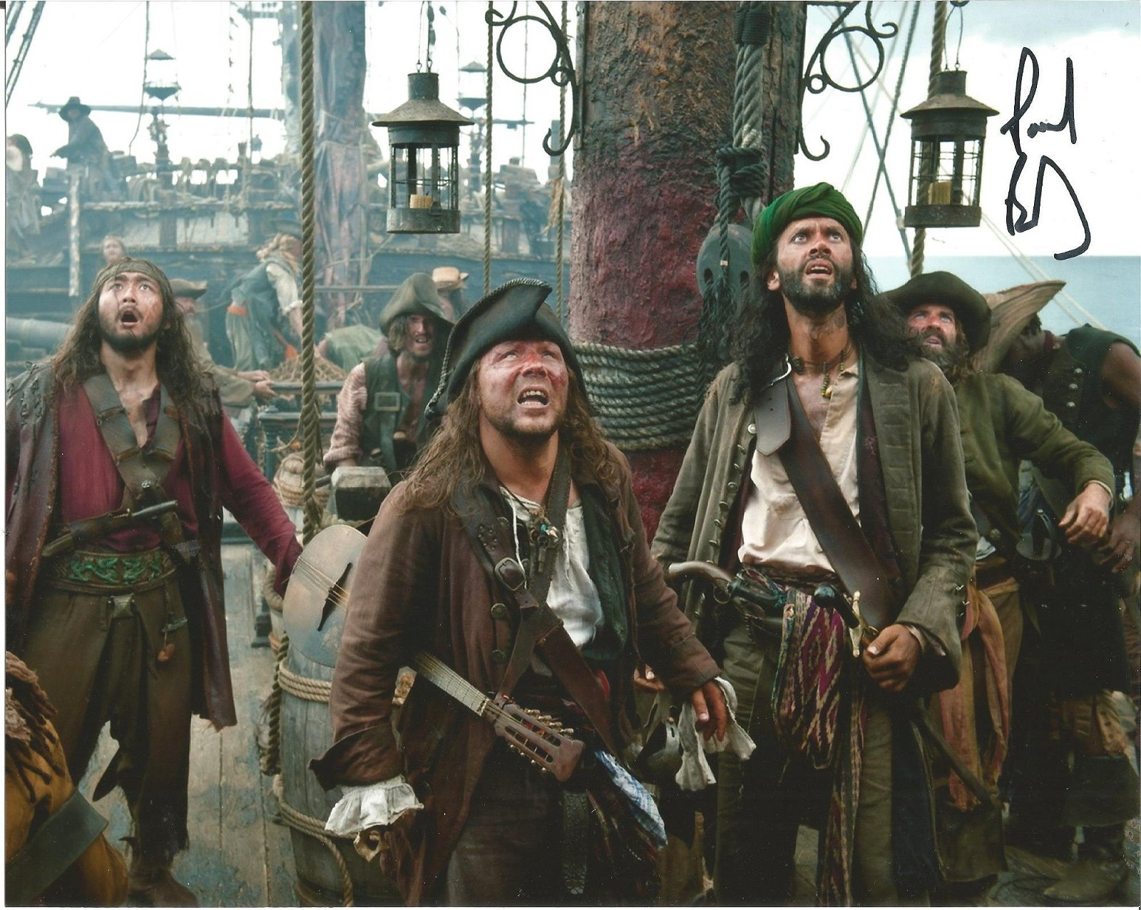 Paul Bazely signed 10x8 colour photo from Pirates of