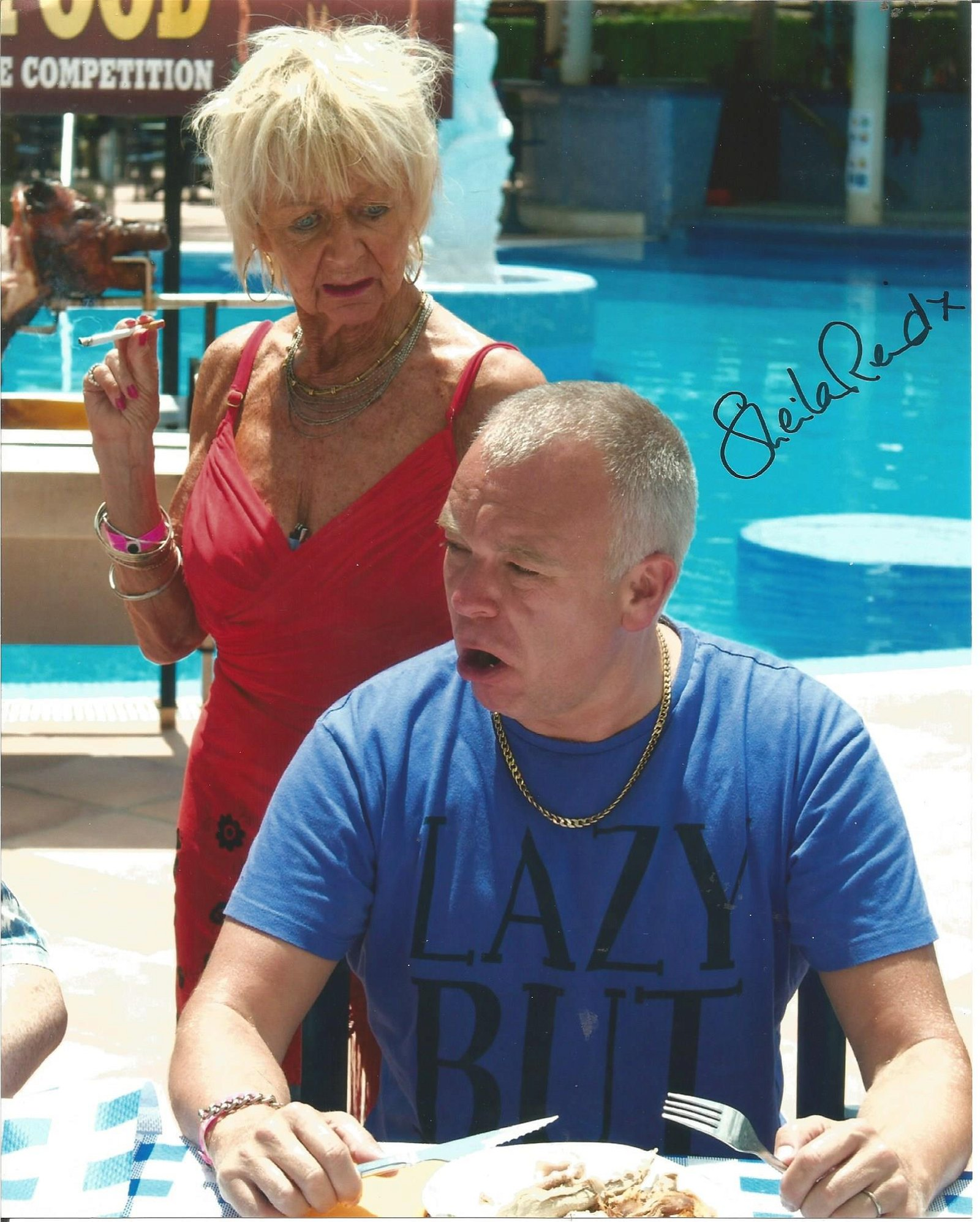 Sheila Reid signed 10x8 colour photo from Benidorm. We