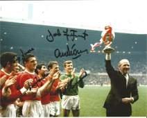 Manchester United legends multi signed 10x8 colour