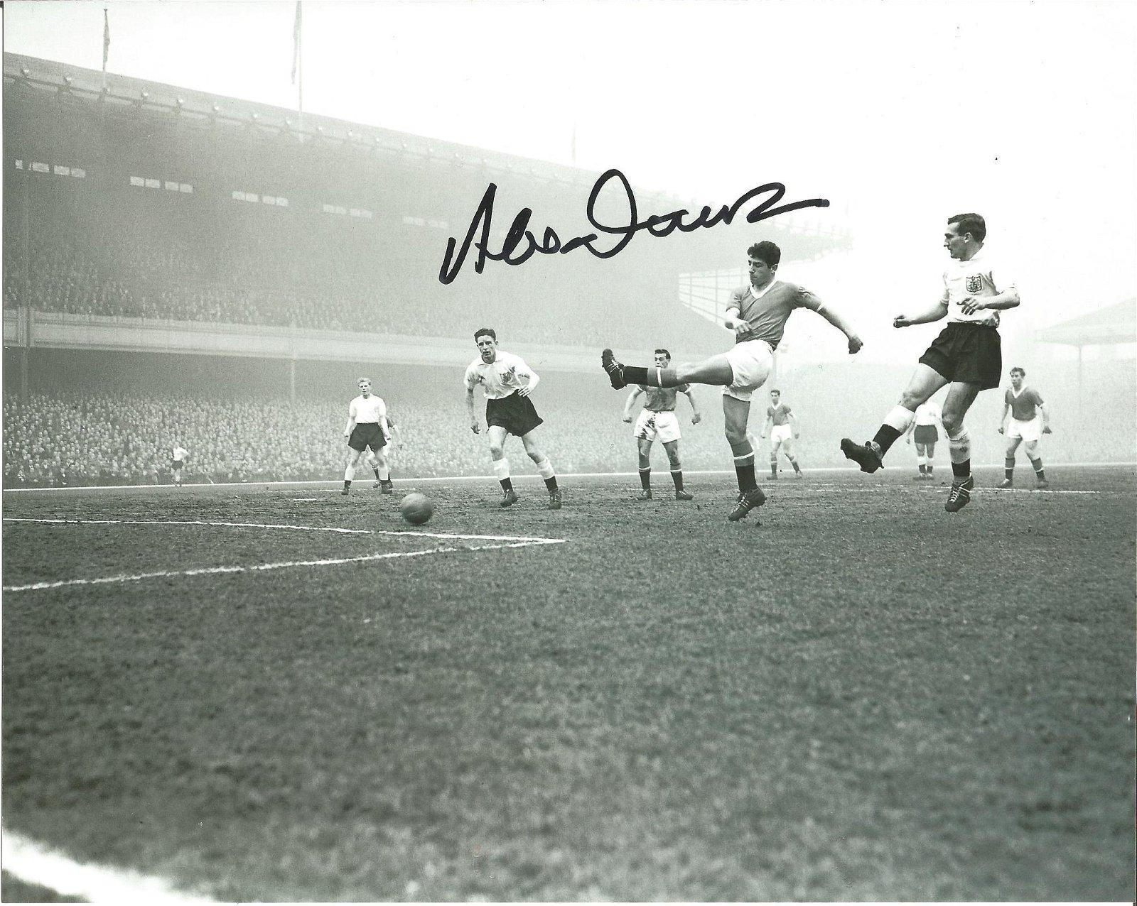 Alex Dawson 10x8 signed black and white photo pictured