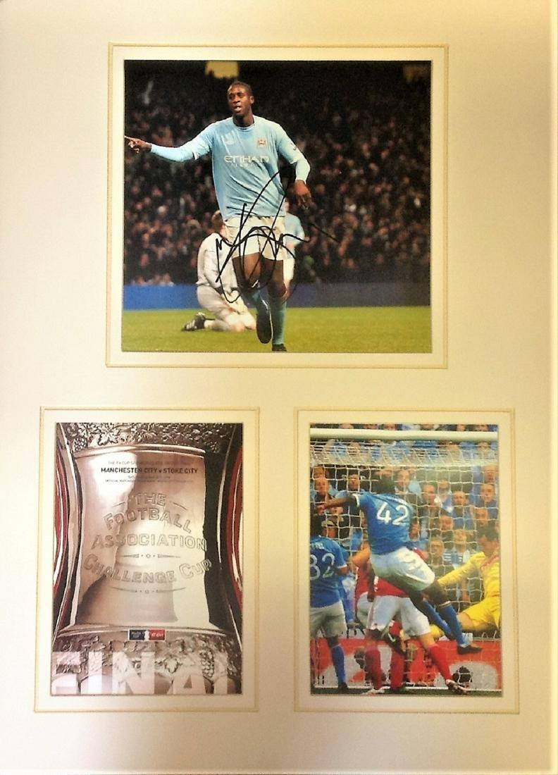 Yaya Youre 2011 FA Cup final 20x16 mounted signature