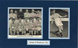 Don Revie and Manchester City Legends 16x10 mounted
