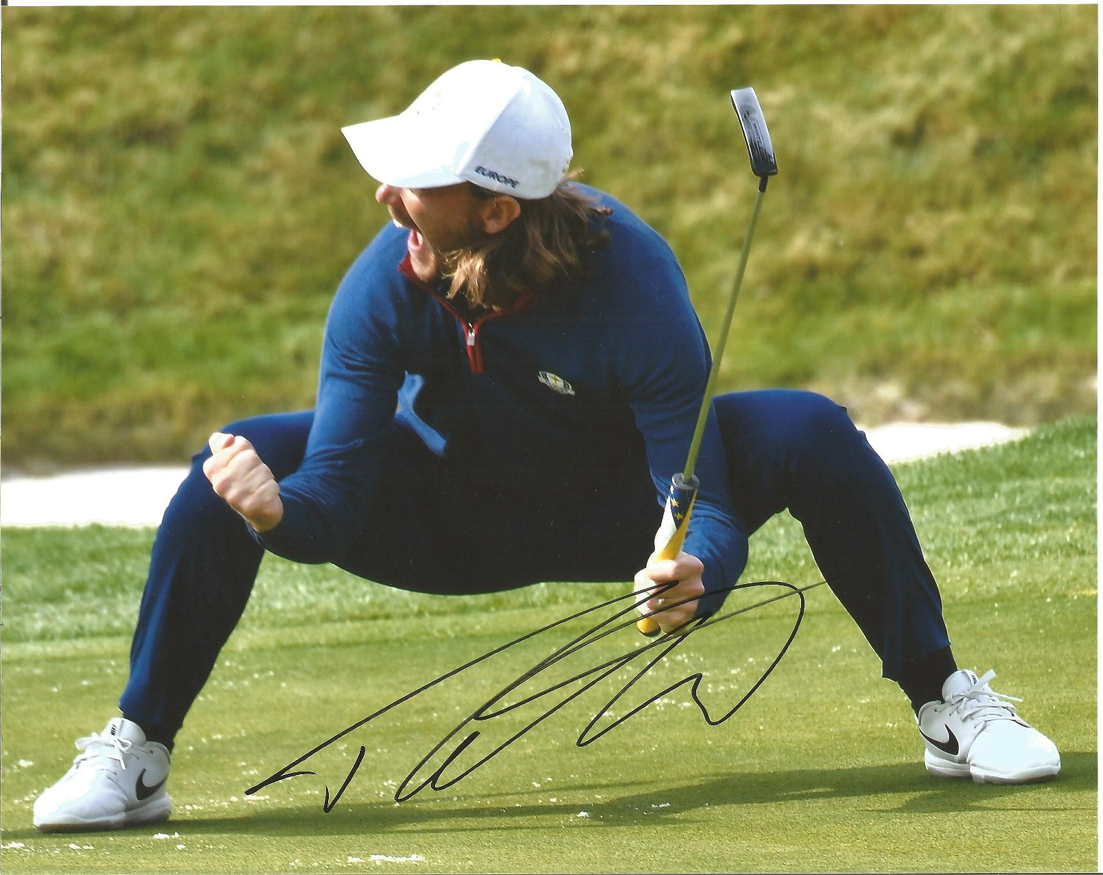 Tommy Fleetwood Signed Ryder Cup Golf 8x10 Photo. Good