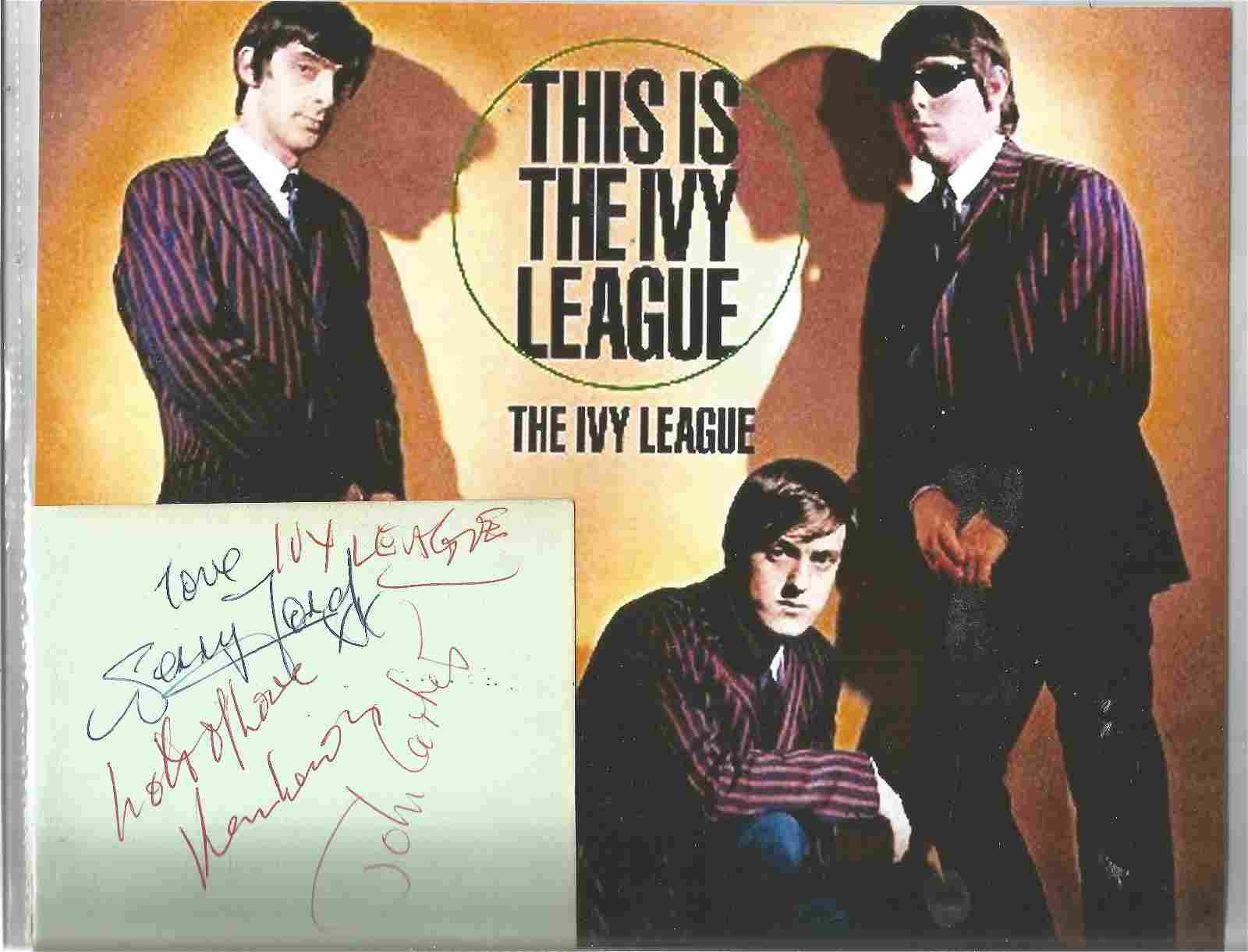 The Ivy League 1960s Group Signed Vintage Album Page By