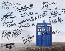 Doctor Who Cast Signed 8x10 inch photo signed by