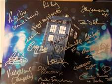 Doctor Who Cast Signed 14x11 inch photo signed by