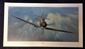 Battle of Britain print 17x30 titled Spitfire Magic by