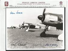 A WW2 Luftwaffe reproduction black  white photograph