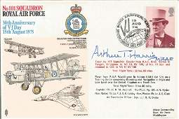 Arthur Bomber Harris signed No101 Squadron Royal Air