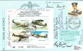 Battle of Britain Pilots multiple signed cover JSF9c