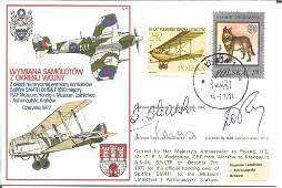 WW2 polish aces multiple signed cover RAF C48 cover