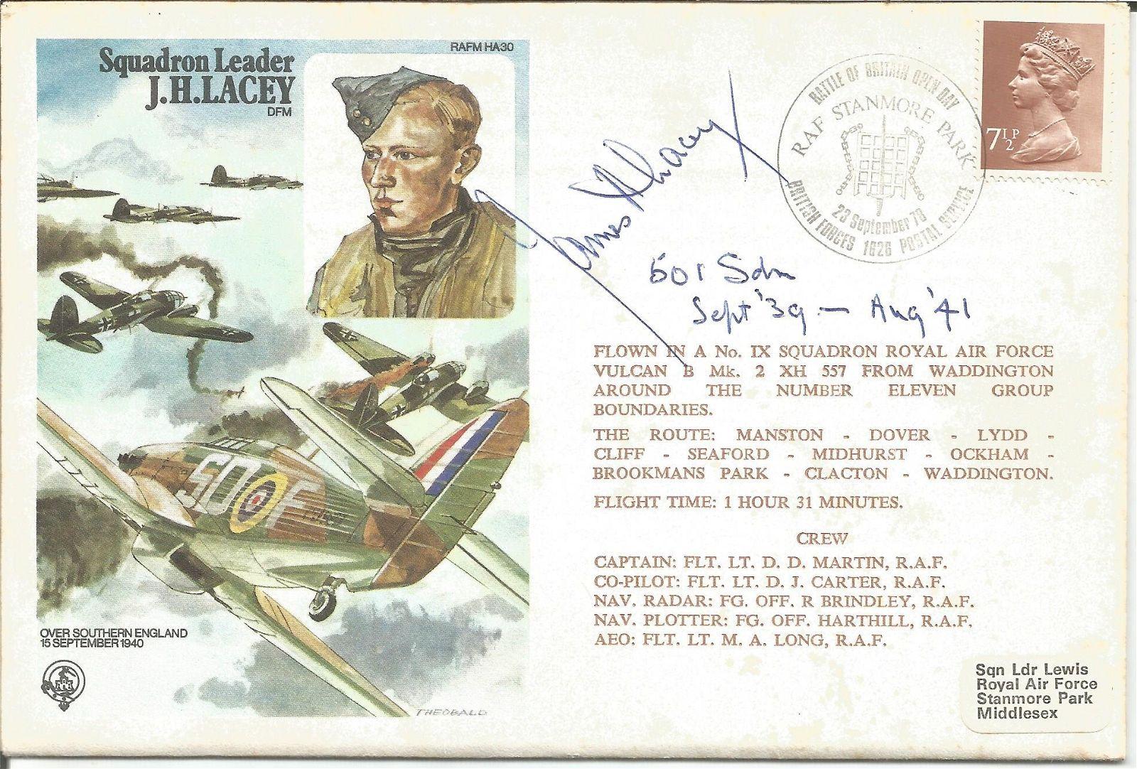 Squadron Leader James Harry Ginger Lacey DFM 601