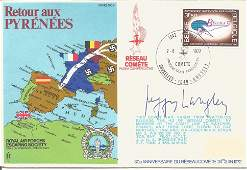 ES26, Peggy Langley, member of The Comet Line, signed
