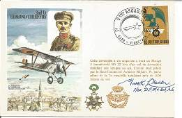 WW2 fighter ace Frank Nowell DFM signed RAF flown cover