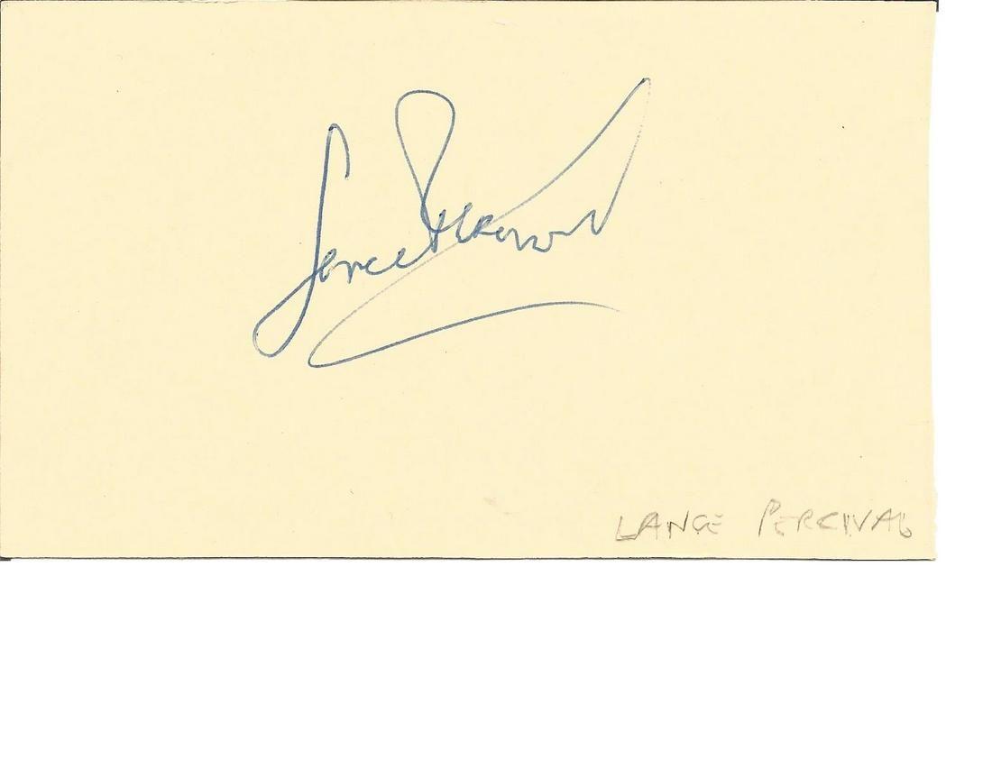 Lance Percival signed autograph album page. Good