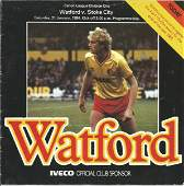 Elton John signed Watford v Stoke City programme Cannon