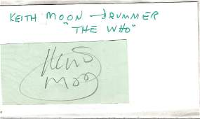 Keith Moon (1946-1978) The Who Drummer Signed Vintage