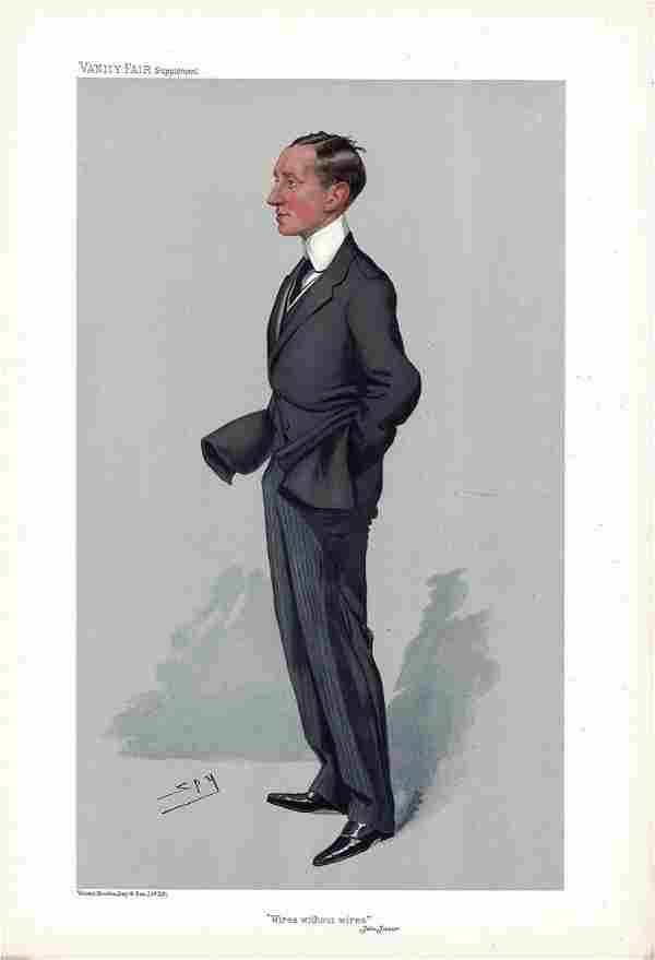 Marconi Wires Without Wires Vanity fair print undated.