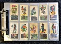 Cigarette card collections in half size album. Some
