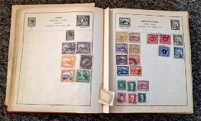 Stamp Collection housed in a Strand album containing