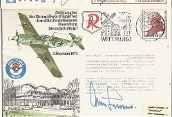 WW2 Luftwaffe ace Gen Adolf Galland KC signed ME109 RAF