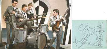 THE SEARCHERS 1960s Group signed vintage Album Page by