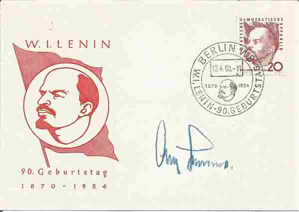 WW2 Luftwaffe ace Gen Adolf Galland KC signed 1950