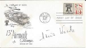 WW2 Luftwaffe ace Heinz Knoke signed 1961 US Air Mail