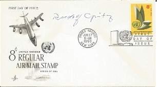 WW2 Luftwaffe ace Rudolf Opitz signed 1963 US Air Mail