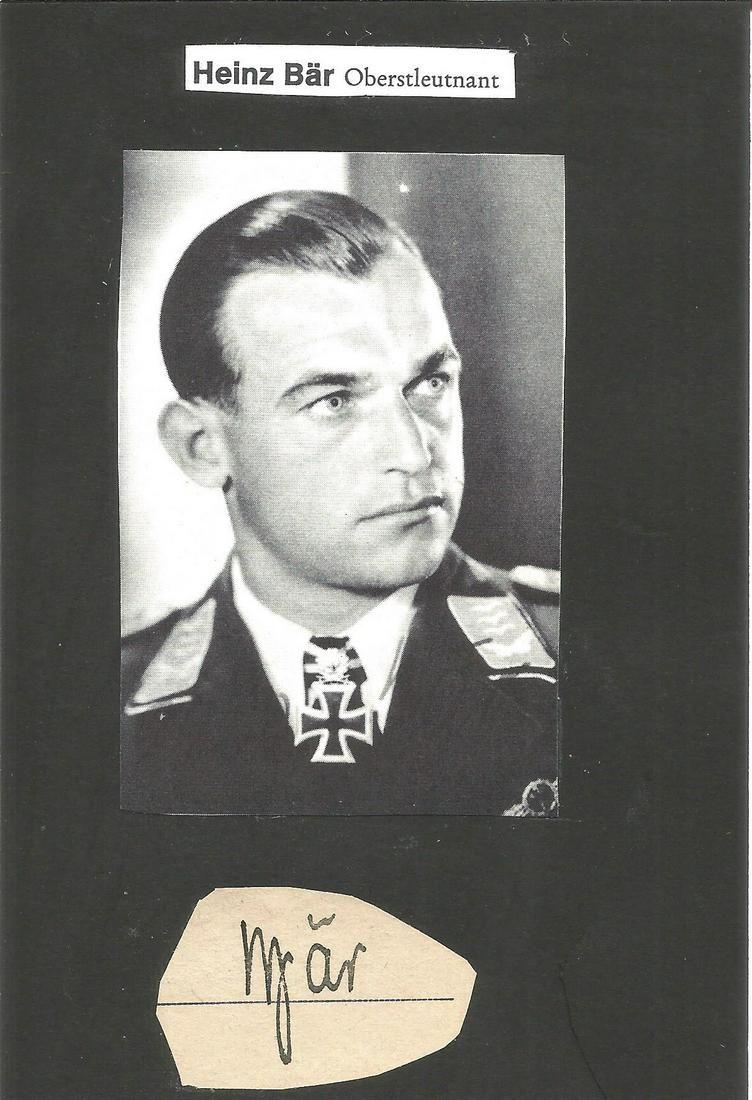 WW2 Luftwaffe ace Oberst Oskar-Heinz Bar, KC small,