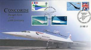 Concorde cover signed by the late Barbara Harmer the