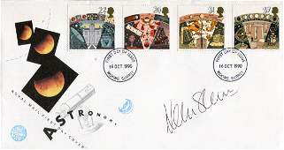 British Astronaut 1990 Astronomy FDC signed by Helen