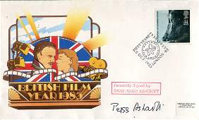 Peggy Ashcroft 1986 British Film Year cover signed by