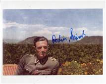 Hitler's Bodyguard. 8x10 inch photo signed by Rochus