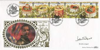 Sir John Gielgud Benham Shakespeare FDC with 22 carat