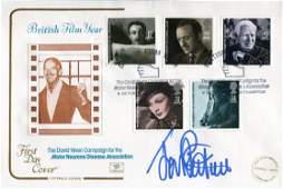 Doctor Who British Film Year FDC signed by Jon Pertwee
