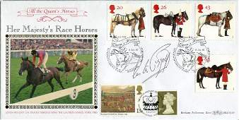 Lester Piggott Benham Her Majestys Race Horses FDC