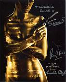 007 James Bond multi signed 8x10 photo signed by FOUR